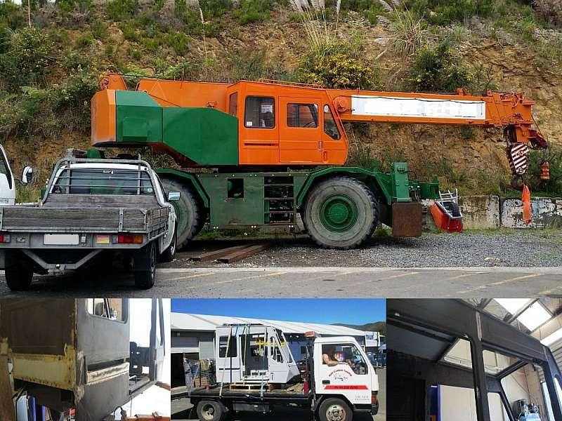 We reconditioned this mobile crane cab.