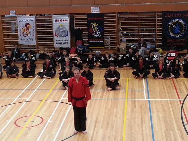 Zachary grading for his 3rd dan Black belt.