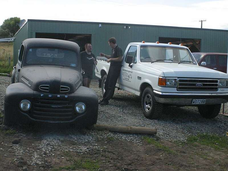 1948 Ford Bonus and 1993 Ford F150